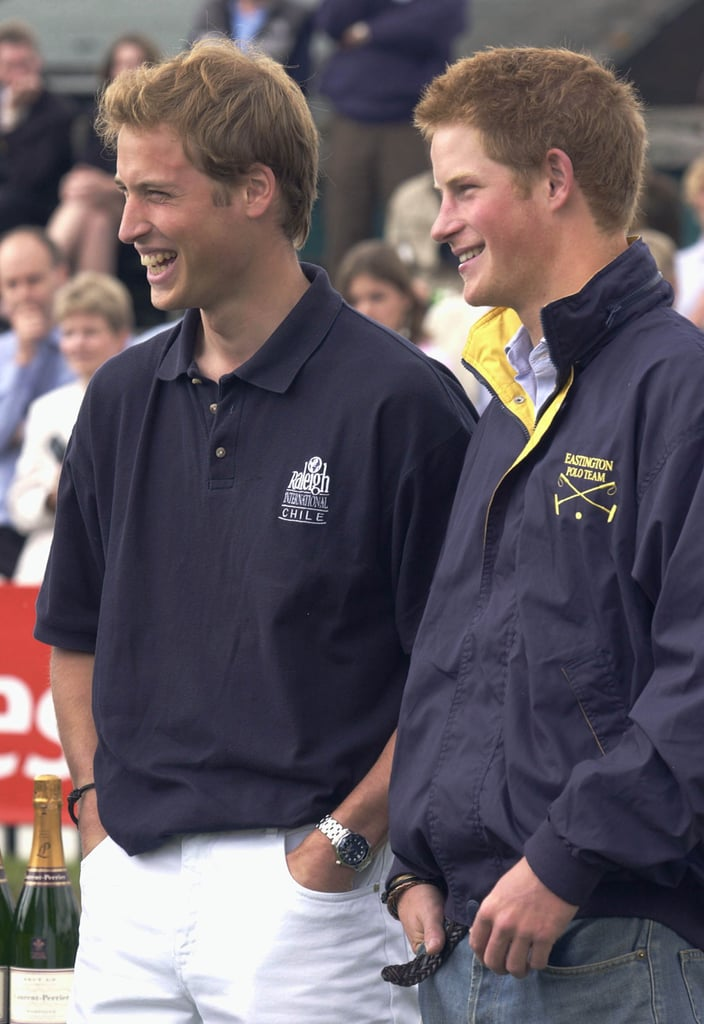 Will and Harry shared a laugh at the Queen Mother's Cup in July 2004.