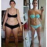 Six months since beginning her weight loss journey Kate has dramatically changed her body shape and become stronger and fitter.