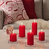 Vinterfest Red Unscented Block Candles