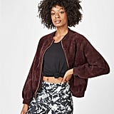 Sweaty Betty Soft Furry Bomber Jacket