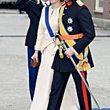 Princess Stephanie and Prince Guillaume of Luxembourg attended the festivities.