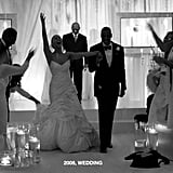 "2008: Beyoncé and Jay Z got married. The music power couple tied the knot in a top-secret ceremony on April 4. Beyoncé later opened up about their relationship in an interview with Essence, saying, ""We decide everything. My word is my word. What Jay and I have is real. It's not about interviews or getting the right photo op. It's real."" She also revealed that she didn't want an engagement ring because ""people put too much emphasis on that. It's just material and it's just silly to me."" 2010: Pregnancy rumors began. Beyoncé fueled pregnancy rumors after she announced that she would be taking a break from the spotlight to focus on her family. In her 2013 HBO documentary Life Is but a Dream, she revealed that she had once been pregnant but miscarried. ""About two years ago, I was pregnant for the first time,"" she said. ""And I heard the heartbeat, which was the most beautiful music I ever heard in my life . . . Being pregnant was very much like falling in love. You are so open. You are so overjoyed. There's no words that can express having a baby growing inside of you, so of course you want to scream it out and tell everyone. [Early into the pregnancy], I flew back to New York to get my check up — and no heartbeat. Literally the week before I went to the doctor, everything was fine, but there was no heartbeat."""
