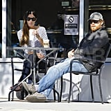 Michael C. Hall met up with ex-wife Jennifer Carpenter for coffee.