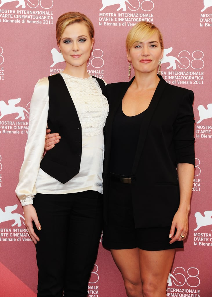 Evan Rachel Wood and Kate Winslet posed together for Mildred Pierce in 2011.