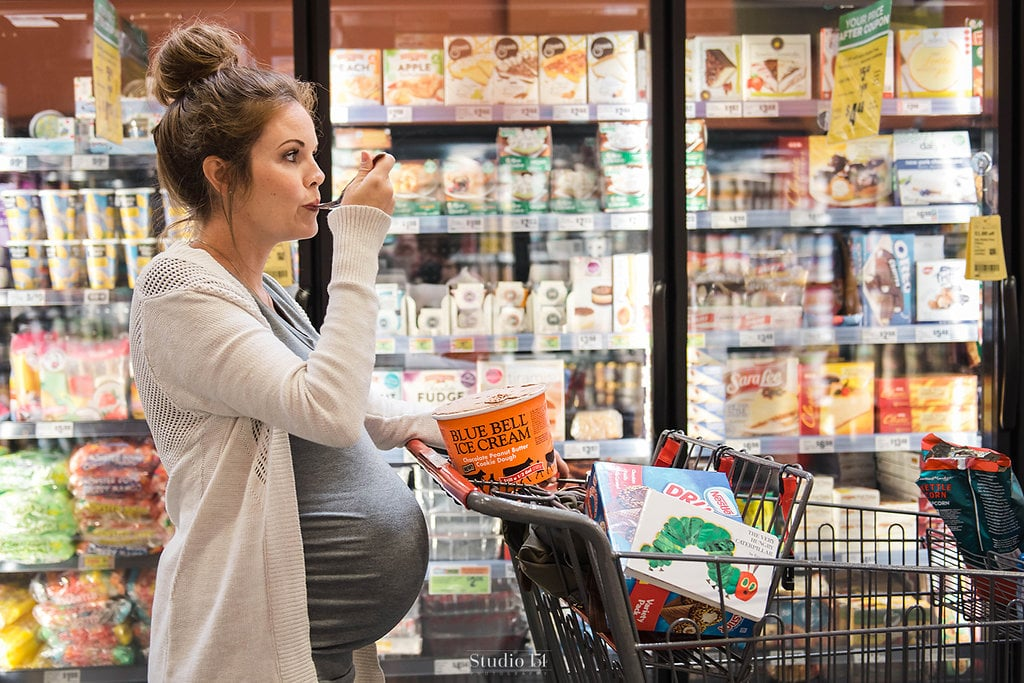 "When Amy Scott realized she was pregnant with her third son, she decided that she wanted to take a more laid-back approach to her maternity photos this time around. She enlisted the help of Lauren Giles, a photographer based in Texas, to make her dream photo shoot a reality. And the end result, which took place in the aisles of their local grocery store, is nothing short of amazing. ""The idea for the grocery store maternity shoot came after mom and I had a brainstorming session,"" Lauren told POPSUGAR. ""She knew she wanted to capture her last pregnancy, but she wasn't a big fan of dressing up and being in a beautiful field, which is really popular right now. After discussing Amy's cravings and where she spends most her time, we came up with the idea.""       Related:                                                                                                           This Couple Had Their Wedding Photos Taken at Target, and Yes, We're Insanely Jealous!               Amy agreed that her main priority was comfort. ""I wanted to be true to myself and comfortable in my own skin,"" she explained. ""Glamorous photo shoots are not me and all I want to do right now is eat, so basing the shoot around my cravings seemed perfect.""  As for narrowing down a favorite aisle? Well, that was a different story.  ""My cravings for each pregnancy have been different so I never know what to expect! My favorite part of the shoot was being able to sit down and chow down on my favorite ice cream in the middle of the grocery store,"" she said. Lauren and I were laughing the entire time!""  Without further ado, the duo headed to their local H-E-B grocery store and got busy snapping some photos that any hungry mom-to-be will be completely envious of.  ""I loved getting really creative with the photography session,"" said Lauren. ""I love that the mom felt at ease and comfortable in her skin. That was the most important to me."" Read through to see some of Amy's most memorable shots, and try not to reach for your favorite snack in the process.       Related:                                                                                                           This Mom Had a Maternity Shoot at Target For Her Rainbow Baby — It'll Feed Your Soul"