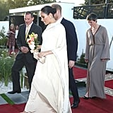Meghan Markle Wearing a Dior Gown in Morocco