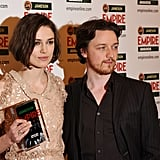Pictures of Keira Knightley, James McAvoy, and Lily Cole at the Jameson Empire Awards in London
