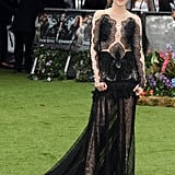 Kristen Stewart happily posed for photos at SWATH's world premiere in London.