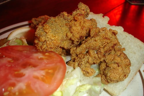 Fried Oysters in Corn Meal