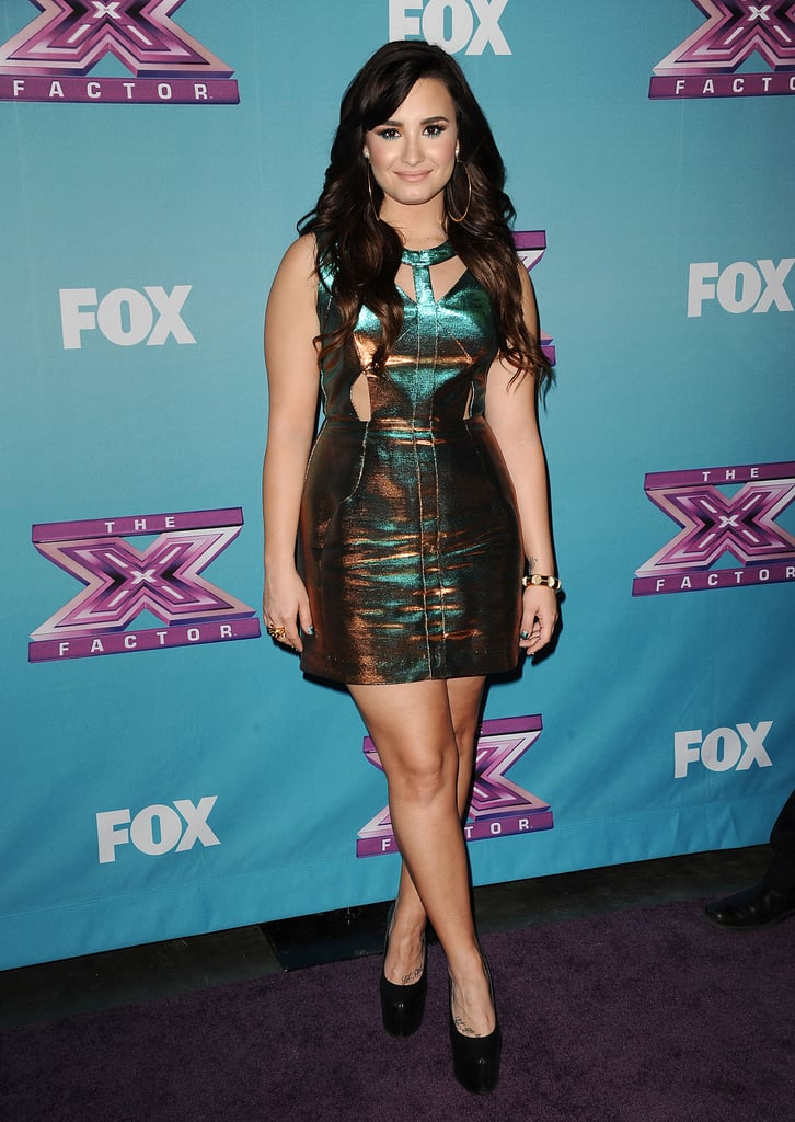 Demi Lovato looked lovely on the red carpet.