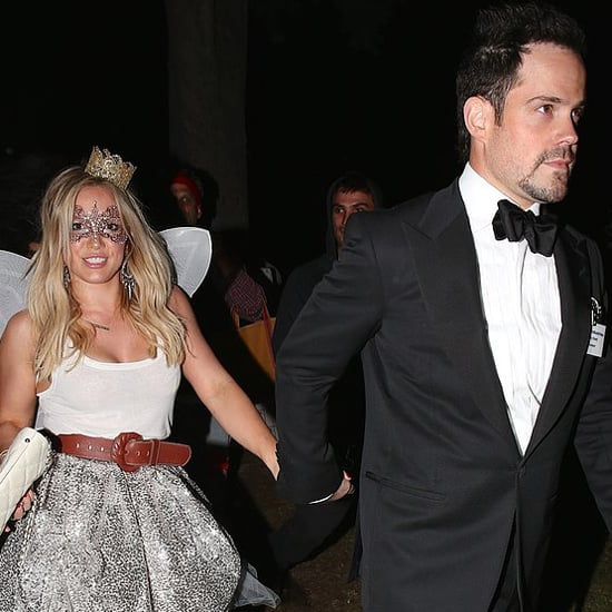 Hilary Duff and Mike Comrie Holding Hands on Halloween