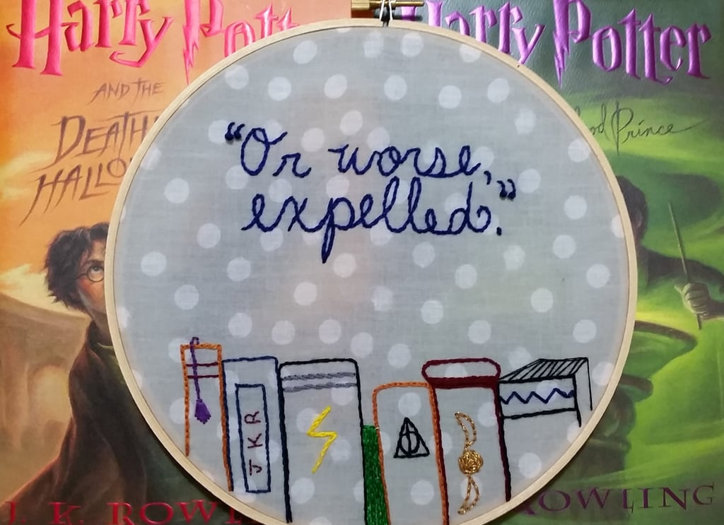 Quote Embroidery Hoop ($20)