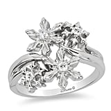 Enchanted Elsa Diamond Snowflake Ring in Sterling Silver