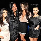 Kourtney, Khloé, and Kim Kardashian found a long-lost member of their family, played by George Lopez during a 2010 spoof.