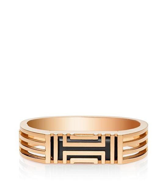 Tory Burch For Fitbit Metal Hinged Bracelet in Rose Gold ($195)