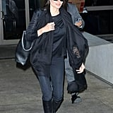 Angelina Jolie returned to LA on Tuesday after a trip to Northern Iraq.