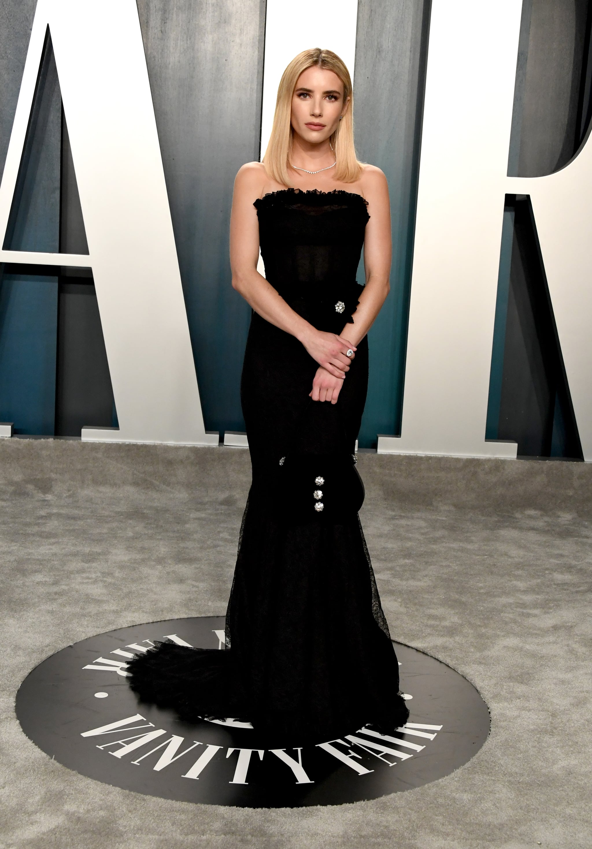 Emma Roberts At The Vanity Fair Oscars Afterparty 2020 The Glamour Continues These Oscars Afterparty Dresses Will Leave You In Awe Popsugar Fashion Photo 32