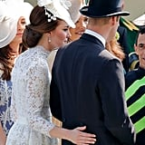 The Duchess Sweetly Touched Prince William's Back at the Royal Ascot