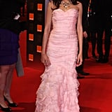 Freida Pinto went for a girly pink dress in 2009.