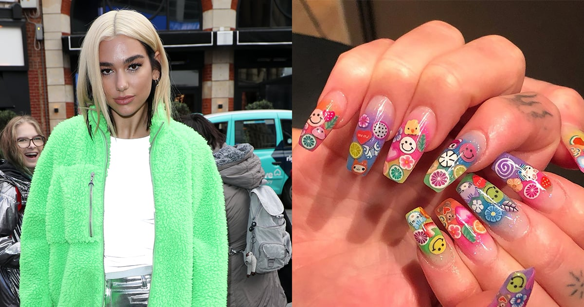 Dua Lipa's collage manicure features a surprising tool: clay rods sliced into little We explain how it works.
