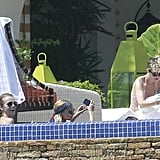 Nicole Richie hung out poolside with her friends in Cabo.