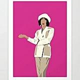 Hilary Banks Wall Pop Art