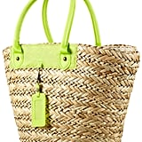 Make a bold beach statement with this neon-enhanced basket-style bag. Topshop Straw Basket Bag ($60)