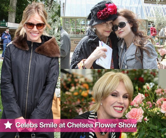 Extensive Photo Slideshow of Celebrities at Chelsea Flower Show Including Sienna Miller, Helena Bonham Carter, Prince Charles