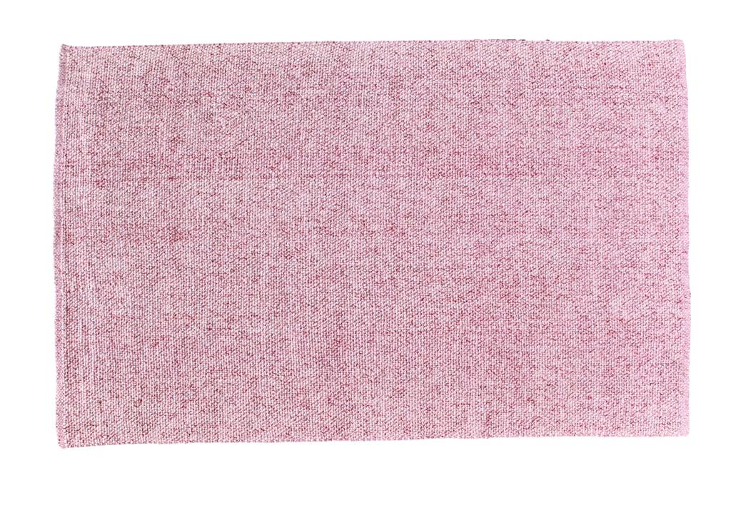 Blush Pink Flatweave 5x8 Wool Area Rug ($270)