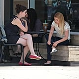 Lauren Conrad stopped at a Starbucks in LA with a friend.