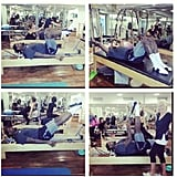 LeBron James shared photos of his pre-game Pilates workout. Source: Instagram user kingjames