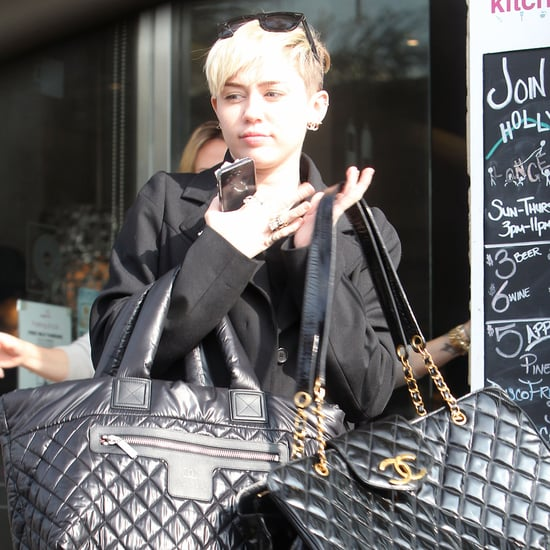 Miley Cyrus Carrying Chanel Bags