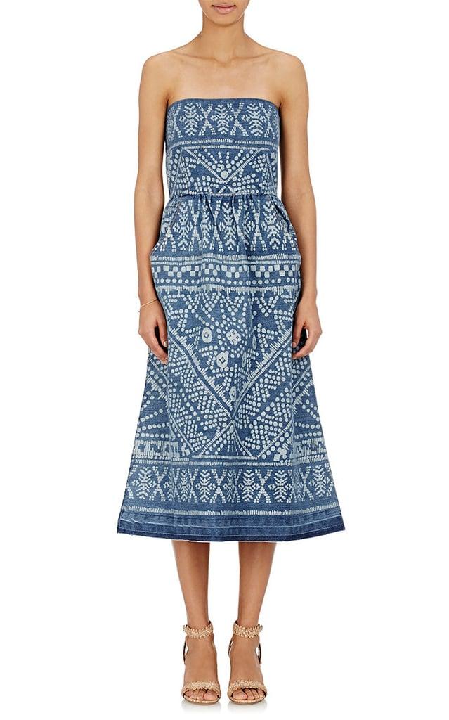 Sea Floral Bleached Denim Strapless Dress ($259, originally $435)
