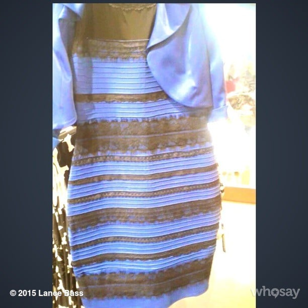 White gold blue black dress debate