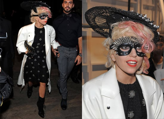 Lady Gaga at Marc Jacobs Spring Show