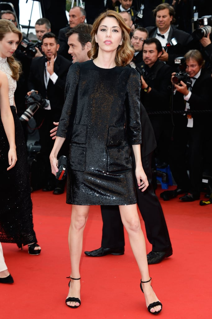 Sofia Coppola attended the Cannes premiere of The Bling Ring in a Louis Vuitton dress.