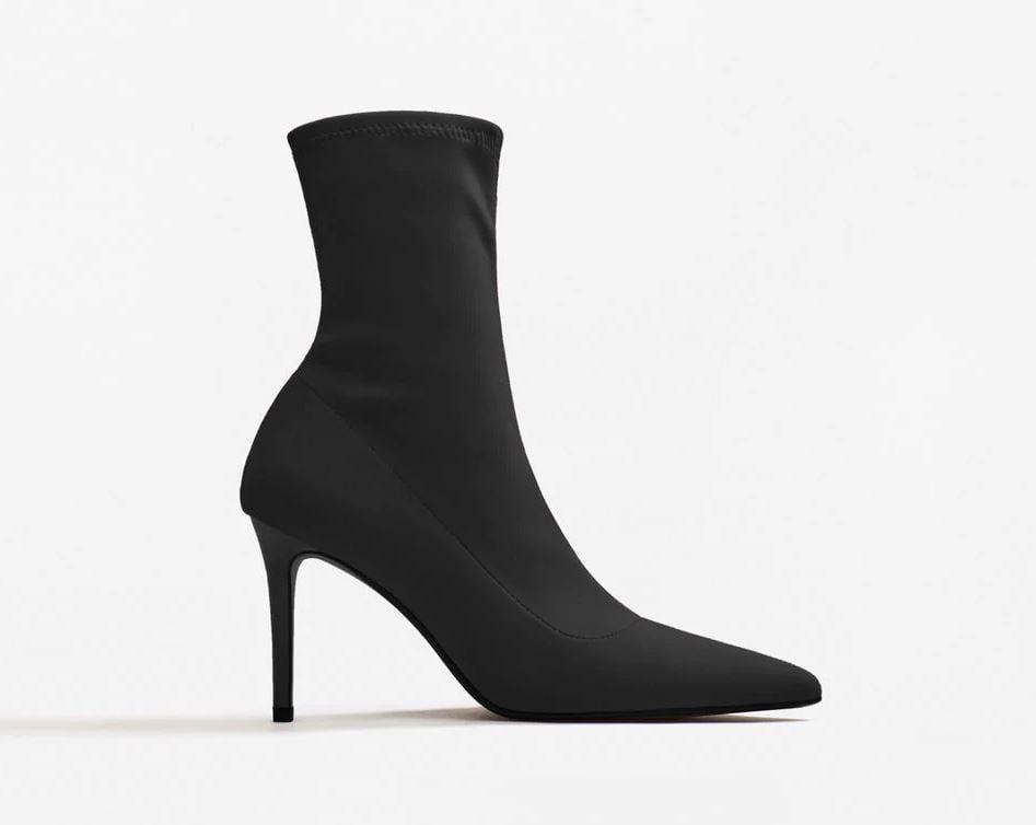 Mango Heel Sock Boots ($80)