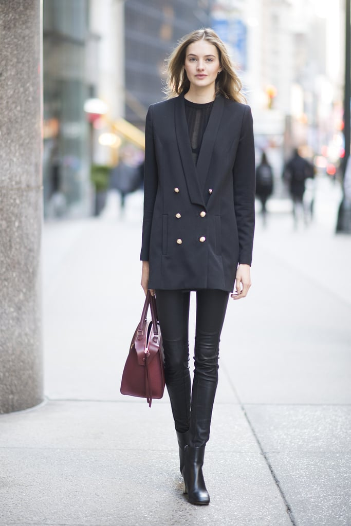 Layer On a Menswear-Inspired Blazer and Play With Proportions