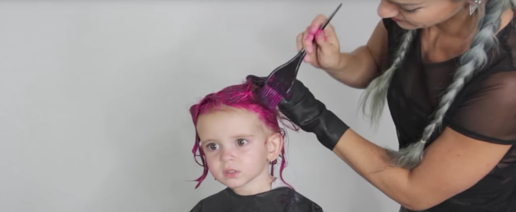 This Mom Dyed Her 2-Year-Old's Hair Hot Pink – and Parents Everywhere Had Something to Say About It