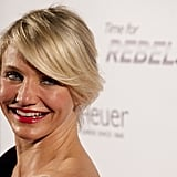 Cameron Diaz went to Switzerland for Tag Heuer.