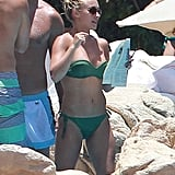 Hayden Panettiere vacationed with friends.