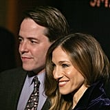 Sarah Jessica Parker posed beside Matthew Broderick.