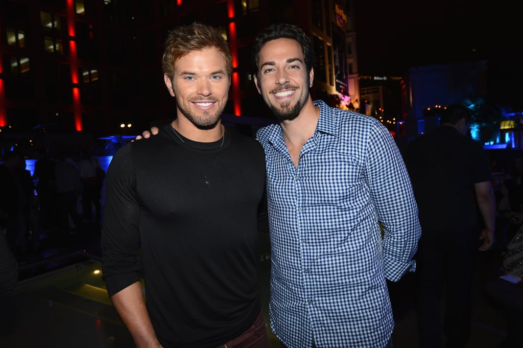 Kellan Lutz buddied up with Zachary Levi at the Breaking Dawn Part 2 party at Comic-Con.