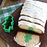 Christmas Tree Eggnog Pound Cake