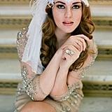 Ostrich & Lace Juliet Bridal Cap Vintage