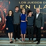 Producer Nina Jacobson, Liam Hemsworth, Jennifer Lawrence, Josh Hutcherson, and director Francis Lawrence brought their film to Spain.