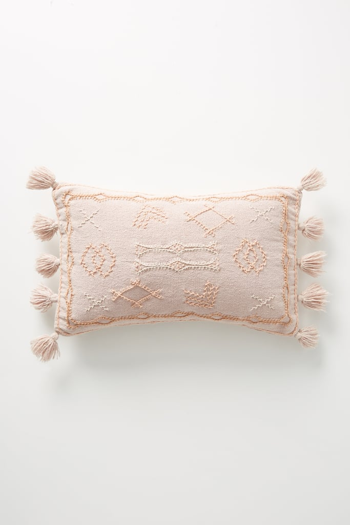 Joanna Gaines For Anthropologie Embroidered Sadie Pillow in Blush