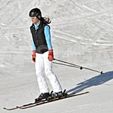 Pippa Middleton flew down the mountain on her skis in France.