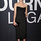Rachel Weisz in Strapless Black Dior Dress