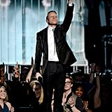 Macklemore performed toward the end of the show.